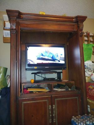 New and used antique cabinets for sale in tulsa ok offerup tv cabinet cherry oak with tv for sale in tulsa ok malvernweather Choice Image