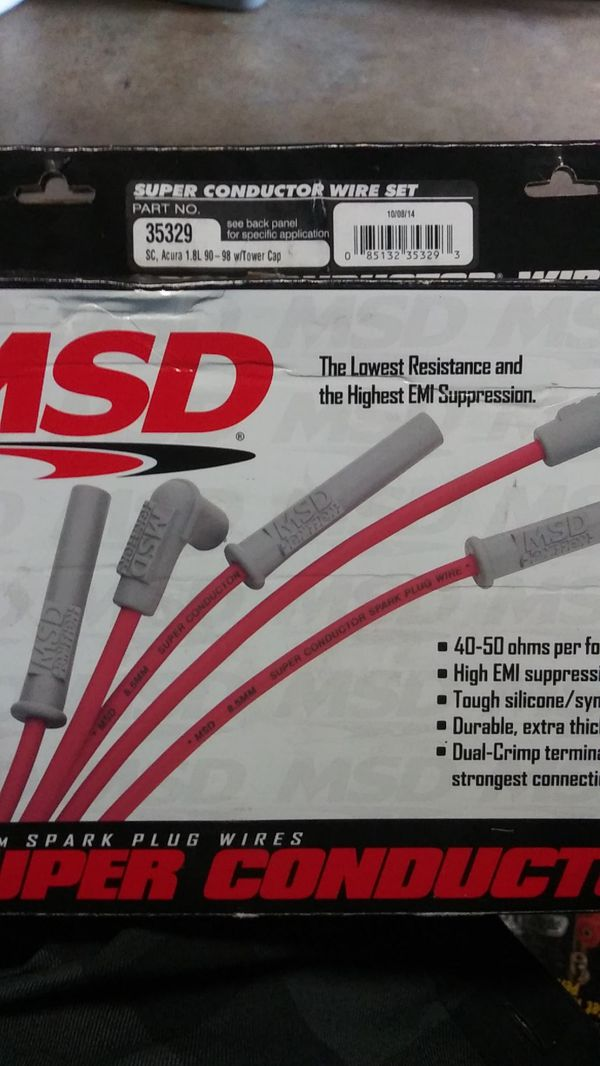 1990-1998 Acura Integra Msd Super Conductor Wire Set Spark Plugs For Sale In La Mirada  Ca