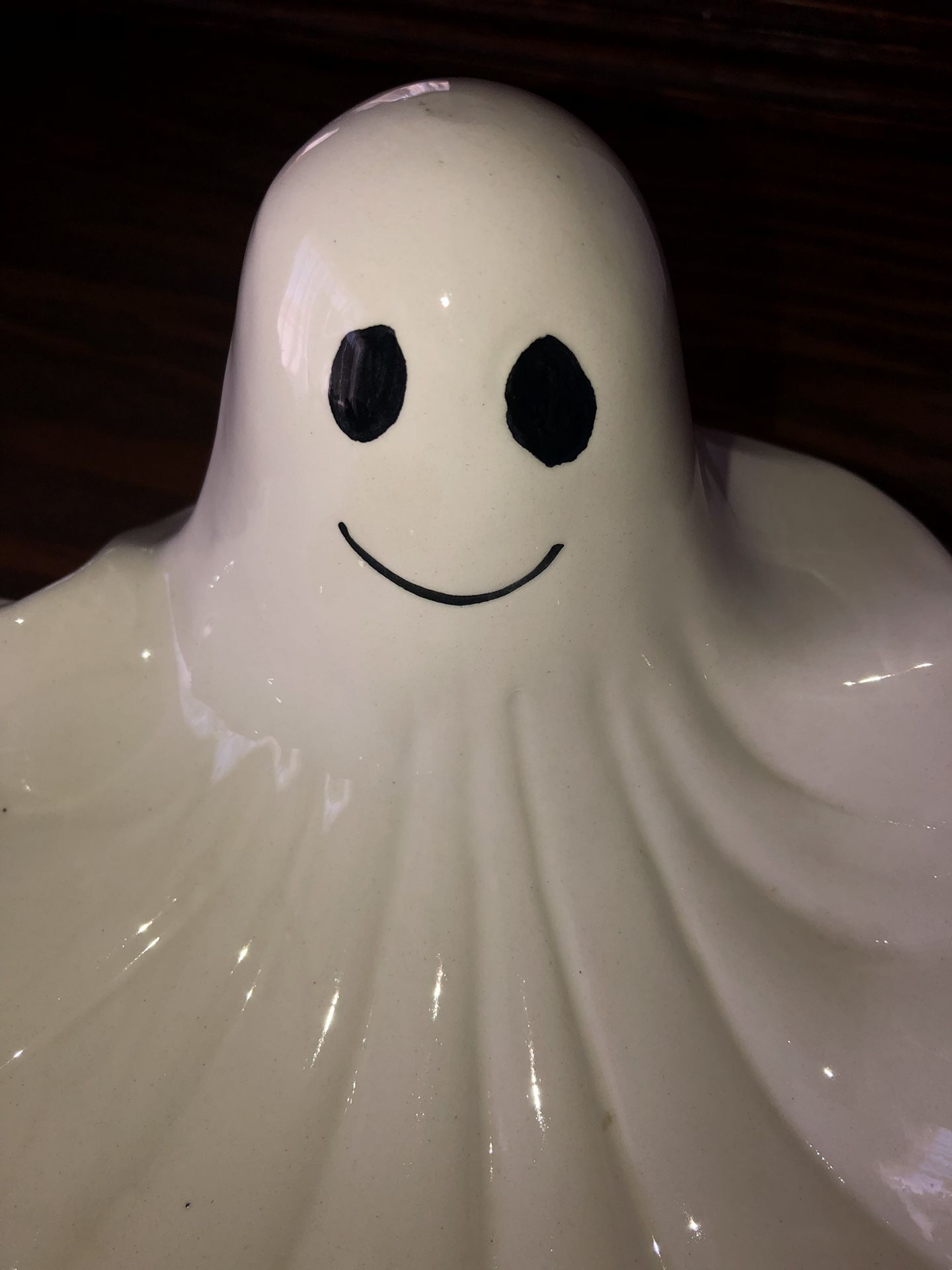 Very cute candy Halloween dish. Decoration.