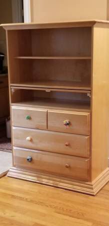 Changing Table with Drawers & Shelf - high end - solid wood for Sale in Falls Church, VA