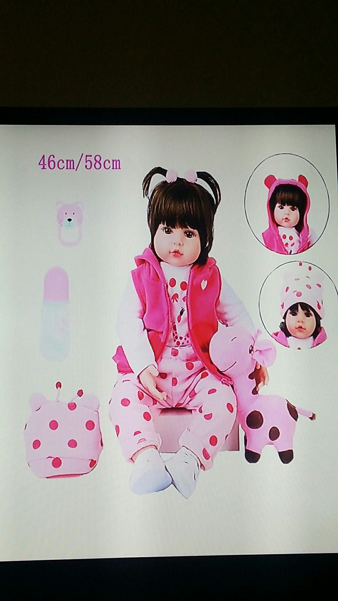 NEW NEVER USED Lifelike Silicone Doll 58 cm / Great Heirloom Gift