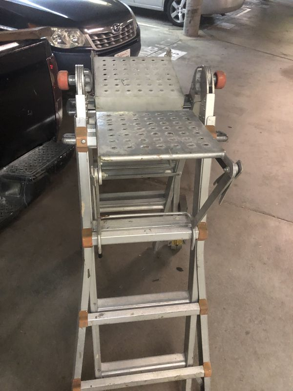 Little Giant Ladder With Leg Leveler For Stairs And Stand Platforms