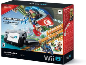 Nintendo Wii U Deluxe 32GB Black Console with games and controllers for Sale in Brookline, MA