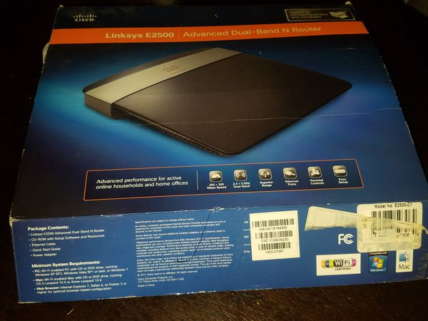 Linksys E2500 router for Sale in Pembroke Pines, FL - OfferUp
