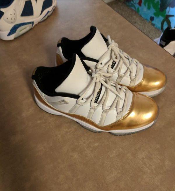 3a552c60677f90 Jordan s 11s Gold CHEAP NO TRADES 130 dollars is PLUG👌🏾👌🏾👌🏾. Hayward  ...