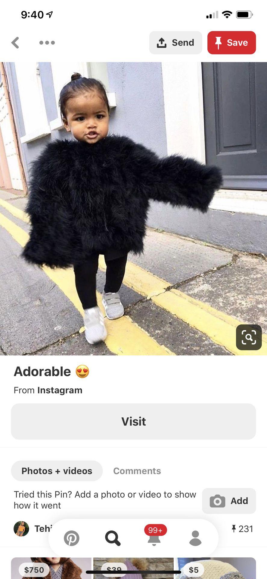 Fur coat for kids