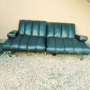 Black Leather Sofa Futon For In Phoenix Az