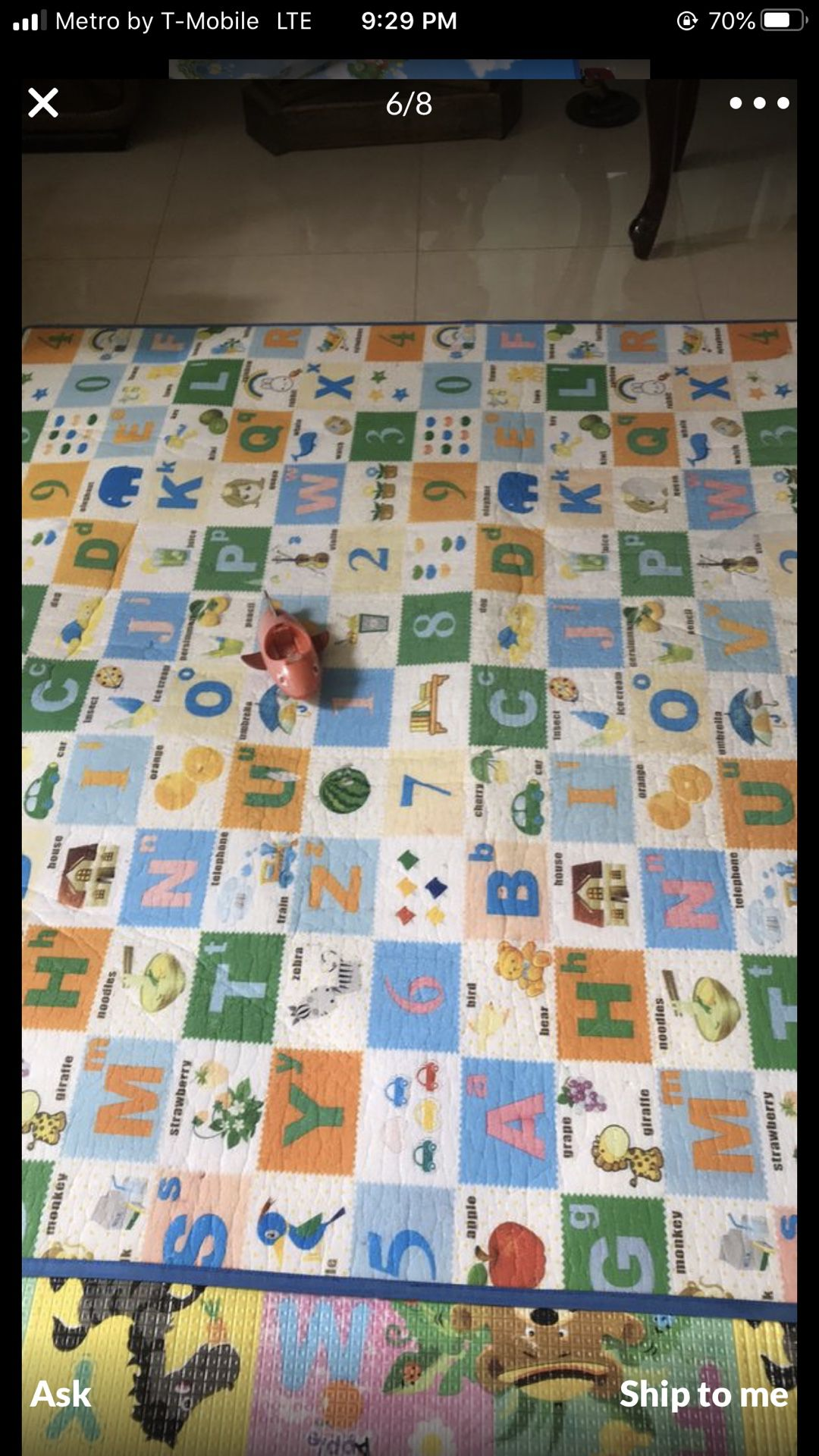 2 alphabet mats in very good condition ine is 7,5x5 another one is 8.5x5.5