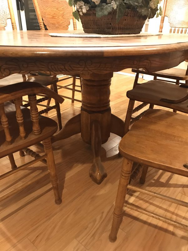 Oak Dining Room Table And Six Chairs For Sale In La Puente