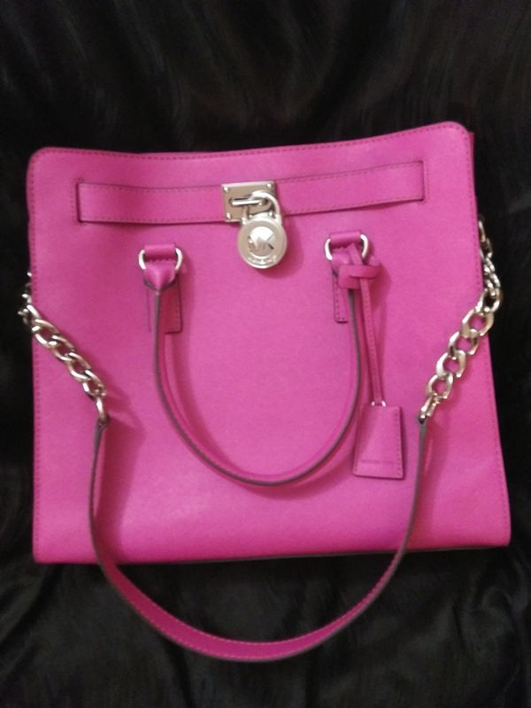 595fa62c0f18 Hot Pink Leather Michael Kors Purse - Best Purse Image Ccdbb.Org