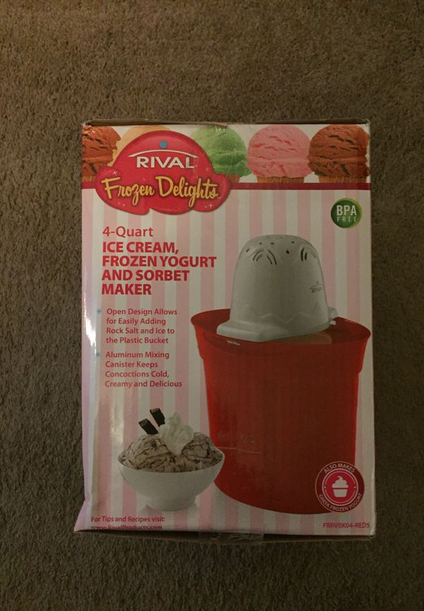 Rival Ice Cream Frozen Yogurt and Sorbet Maker for Sale in ...