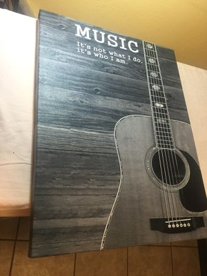 (Guitar) Music Lovers Canvas Wrap wall decor for Sale in Riverbank, CA