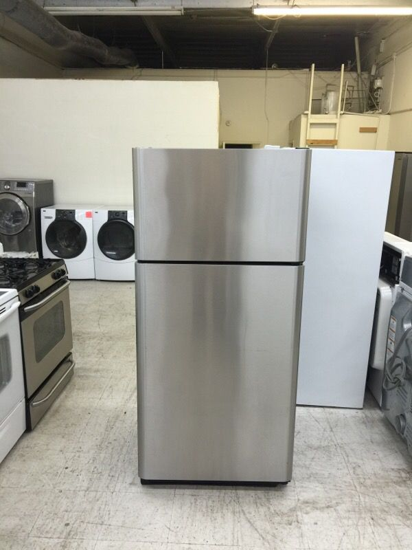 frigidaire apartment size refrigerator 18 cu ft stainless steel for sale in san jose ca offerup. Black Bedroom Furniture Sets. Home Design Ideas