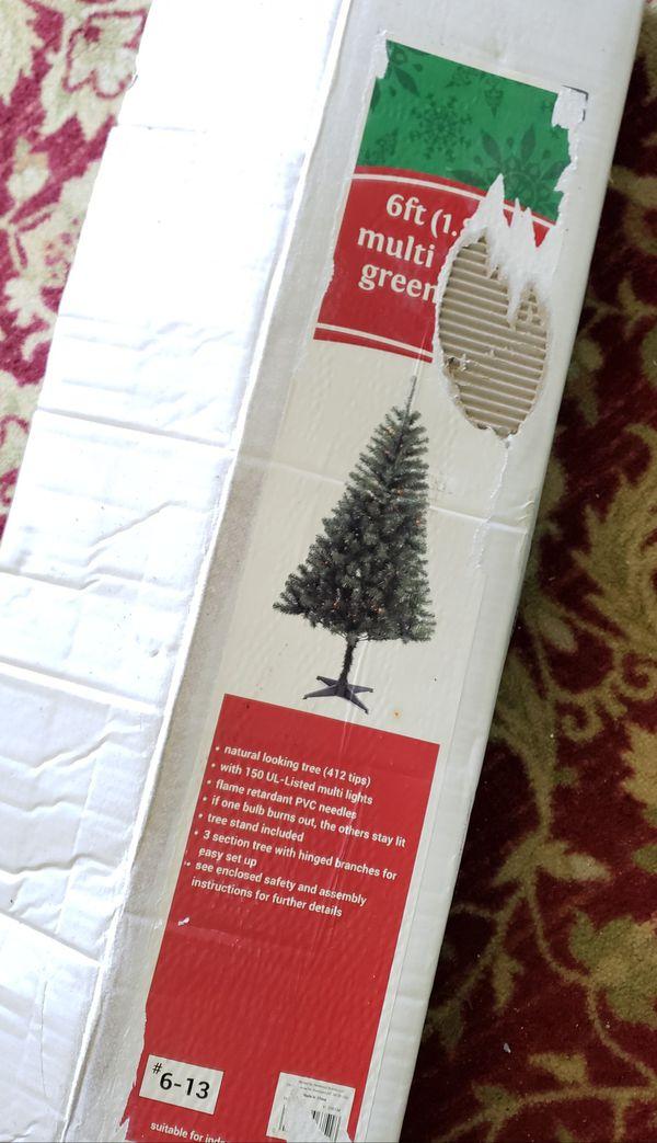 6ft Prelite Multicolored Colored Christmas Tree New Open Box