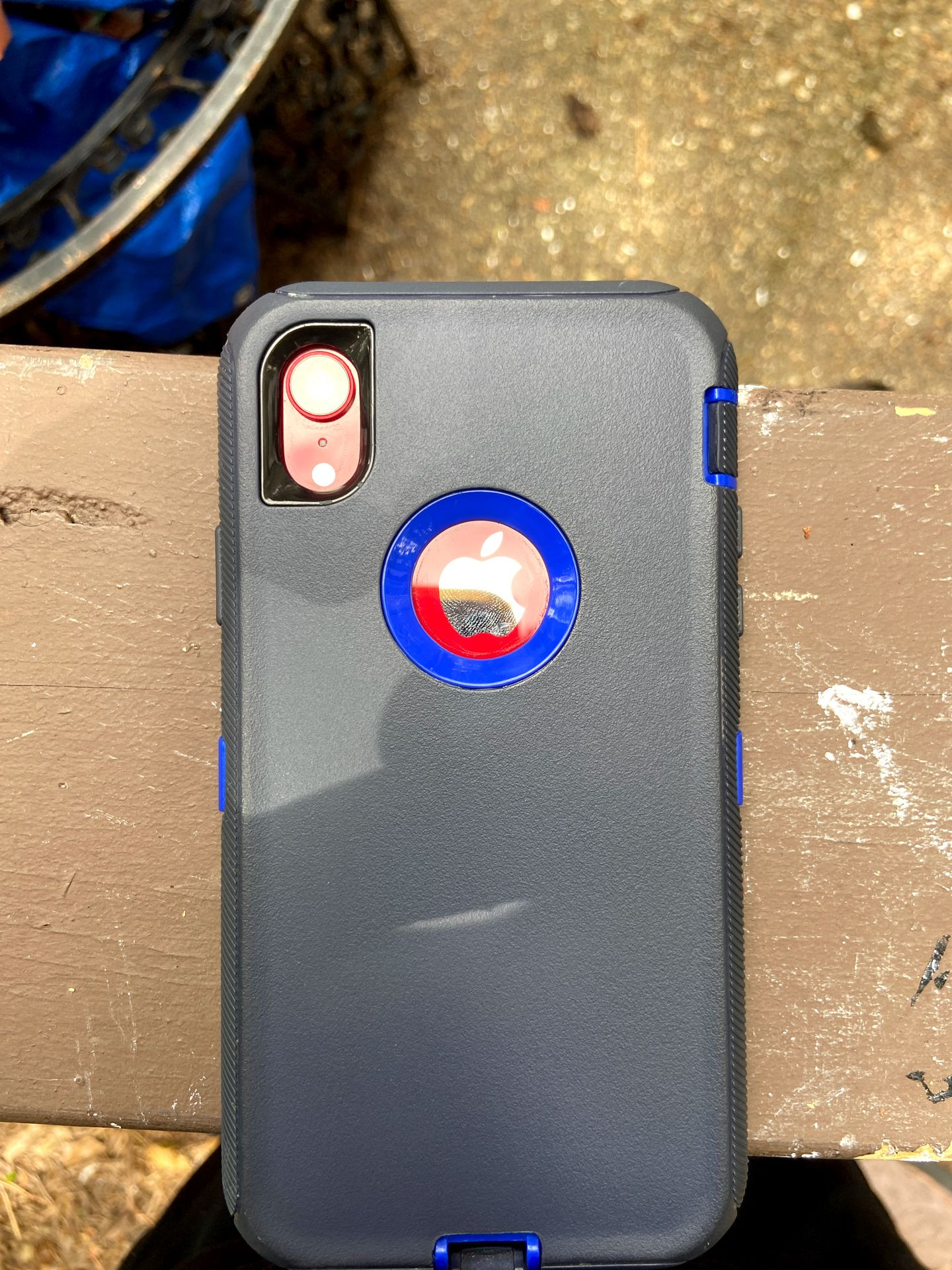 iPhone red XR With Case