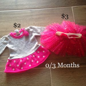 Size 0/3 months sweater & tutu for Sale in Fullerton, CA