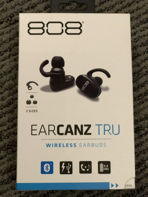 1648f5a45c9 808 Audiovox Electronics EarCanz TRU Wireless In-Ear Earbuds - Black  HPA225BK. Condition is New.