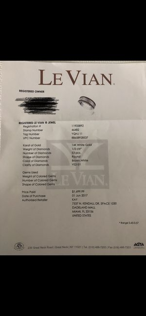LeVian Wedding ring for men for Sale in Miami, FL