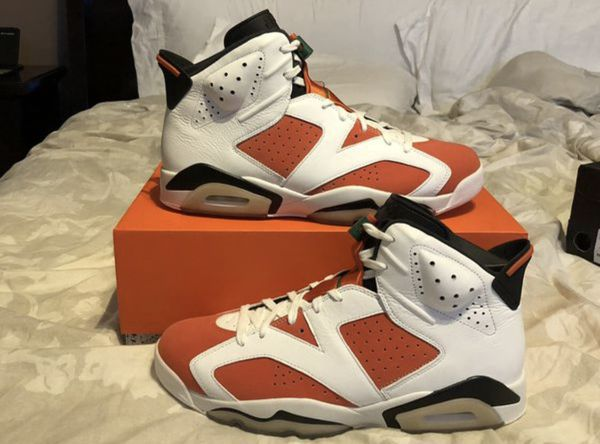 992b8b99b2a Men s Nike Air Jordan 6 VI Retro Gatorade Like Mike 384664-145 Summit White  Team Orange Black Size 12 Shoes New w  Box