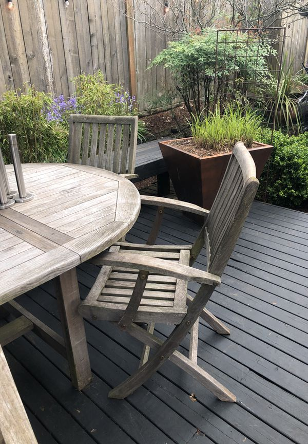 teak table and 5 chairs david smith co for sale in seattle wa