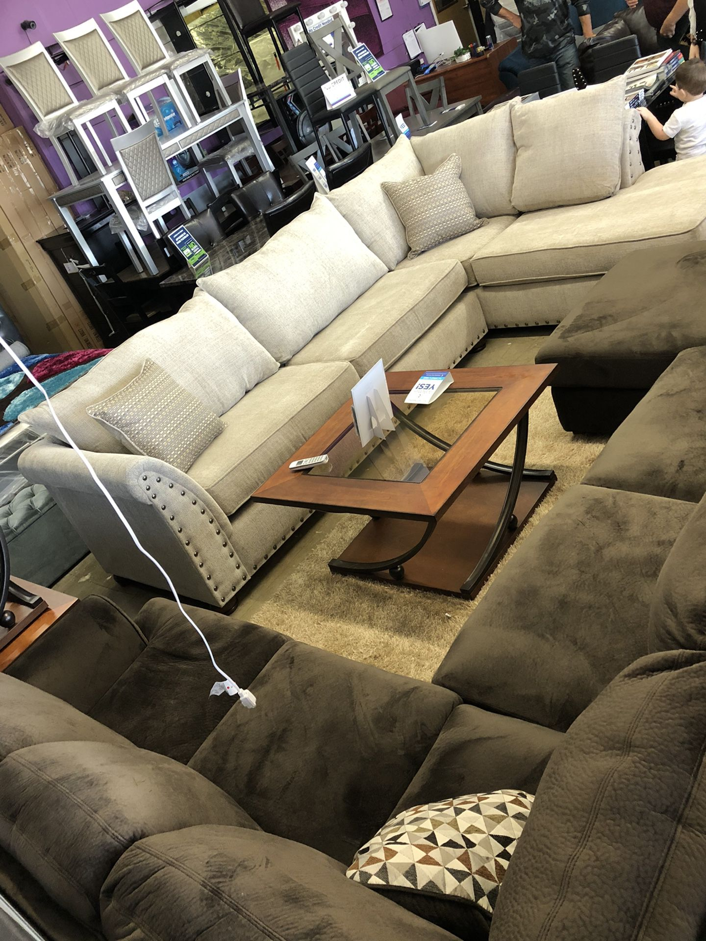 I Furniture sectional fabric. El Rio furniture finance available down payment $39 1456 belt line rd suite 121 Garland tx 75044 Open from 9:30-8:00