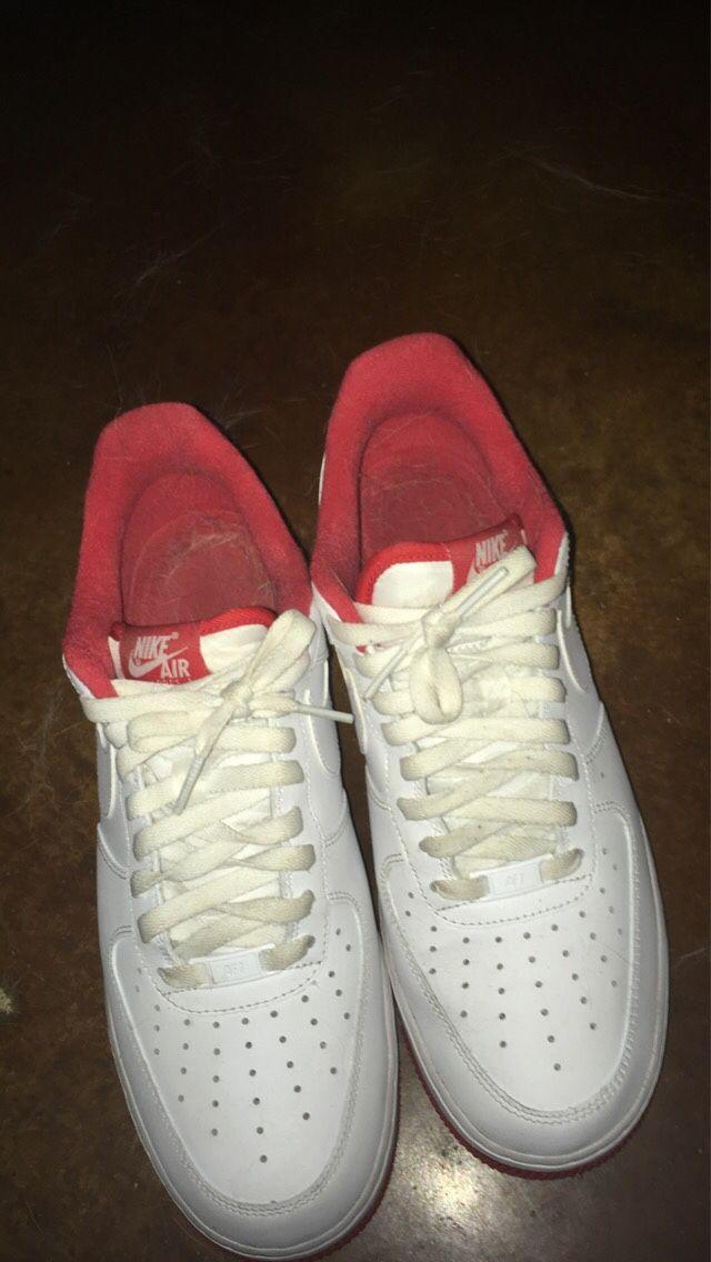 Red Bottom Air Force ones