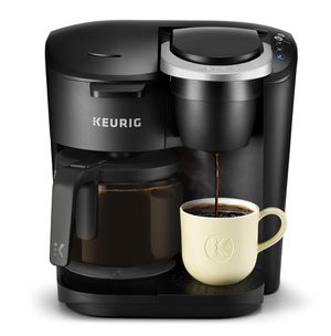 Photo Keurig K-Duo Essentials Coffee Maker, with Single Serve K-Cup Pod and 12 Cup Carafe Brewer, Black