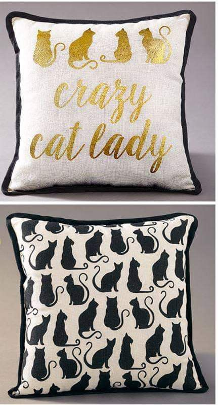 Dog Cat Design Pillows Couch Cushion Pet Lovers Reversible
