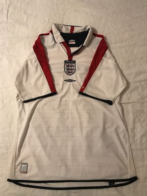 Team England 2002 World Cup Soccer Jersey Men's Large for Sale in Fairfax, VA