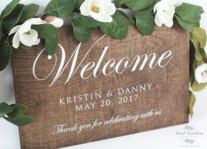Wedding sign on canvas with wood look for Sale in New York, NY