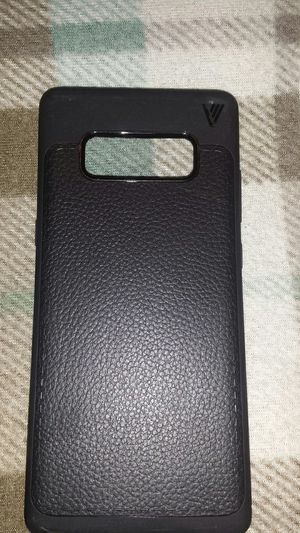 Galaxy note 8 rubber and leather phone case, black for Sale in Murfreesboro, TN