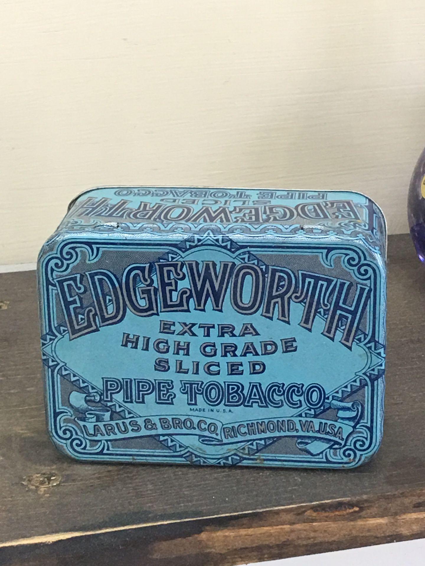 Edgeworth tobacco tin