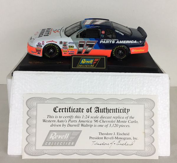 Darrell Waltrip #17 Western Auto 1996 1:24 Diecast NASCAR Revell Collection  Certificate of Authenticity for Sale in Riverview, FL - OfferUp
