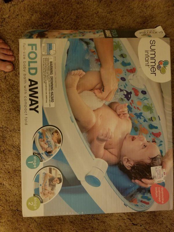 Baby items- travel sleeper, rear seat mirror, baby bath (Baby & Kids ...