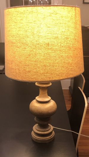 Wooden Table Lamp With Linen Shade 45 00 For In Orlando Fl