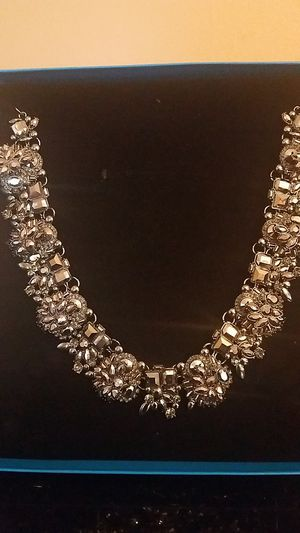 Beautiful smoky gray crystal necklace for Sale in Washington, DC