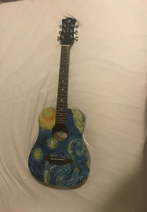"Youth guitar Vincent Van Gogh ""Starry Night"" made by Luna guitars for Sale in Arlington, VA"