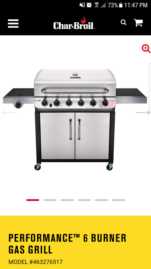 Char-broil performance 6 burner gas grill for Sale in Clackamas, OR ...