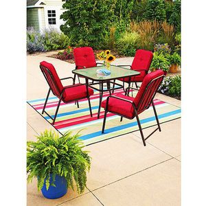 Red 5-Piece Patio Dining Set, Red, Seats 4 for Sale in Ashburn, VA