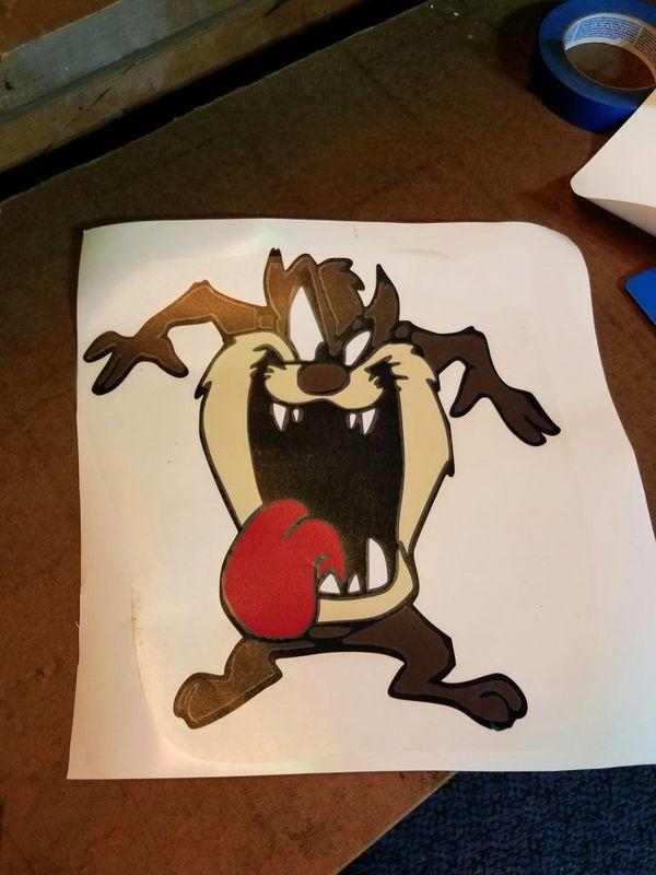 12x12 taz devil vinyl decal arts crafts in rockford il offerup