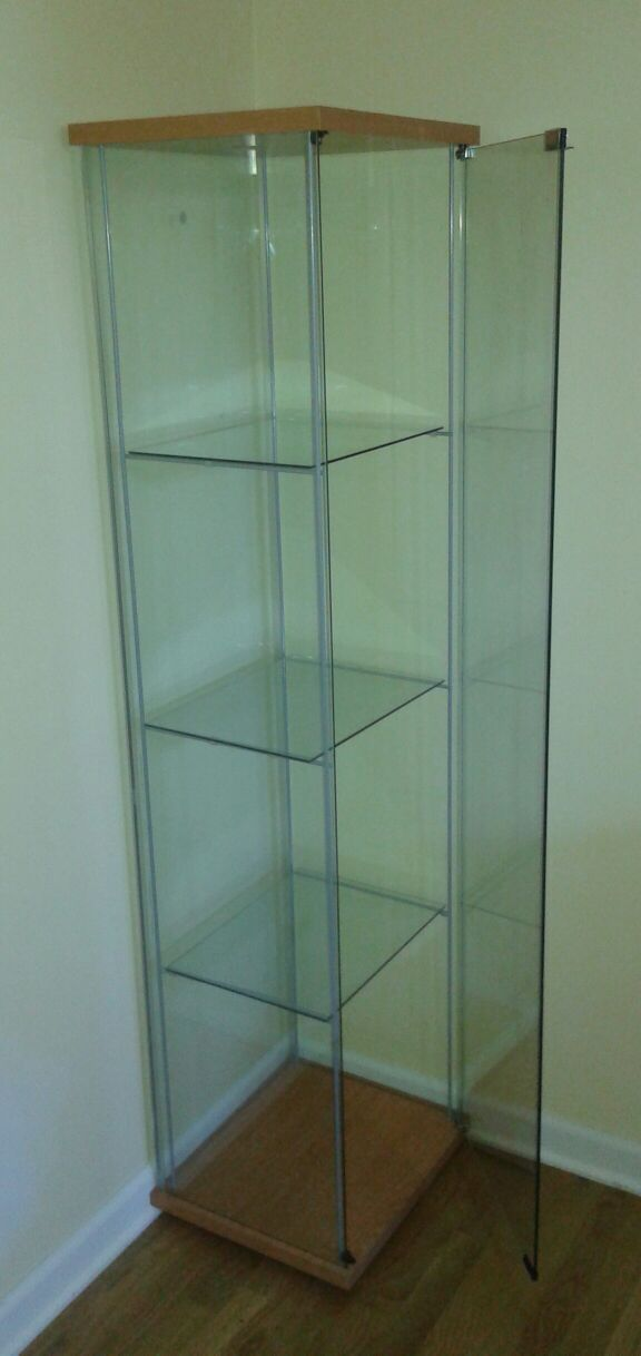 Ikea Detolf Glass Door Cabinet Wood Color General In Buffalo