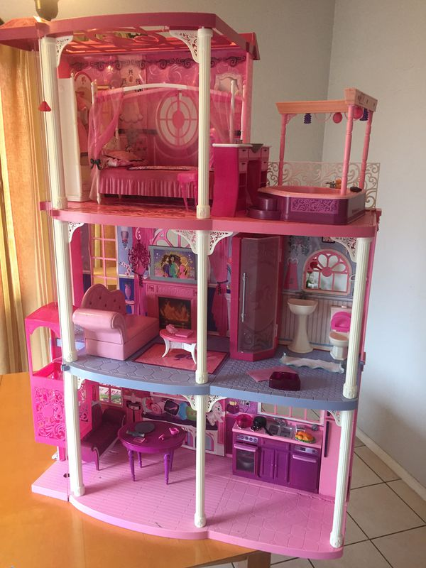 560e13cb985 Barbie Dream House 3 Story With Elevator Size H42 W30 In