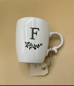 New Monogram Mug Letter F Thumbnail