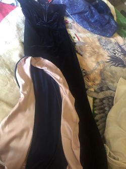 Beautyful dress soft Blue color velvet Thumbnail