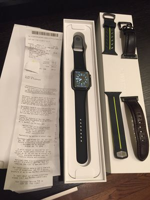 Apple Watch 3 GPS, 42mm + 2 free straps for Sale in Ashburn, VA