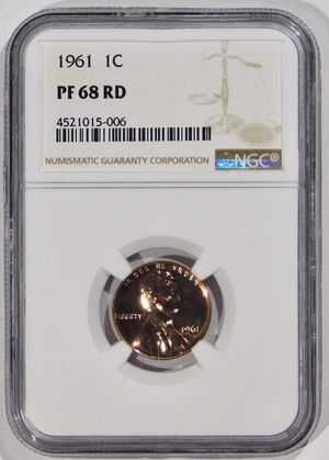 Photo 1961 Lincoln Cent Proof NGC PF-68 RED
