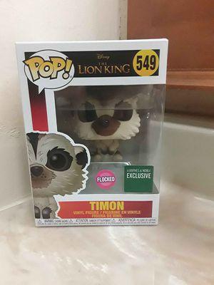 Photo Timon Disney Lion King Funko Pop Flocked