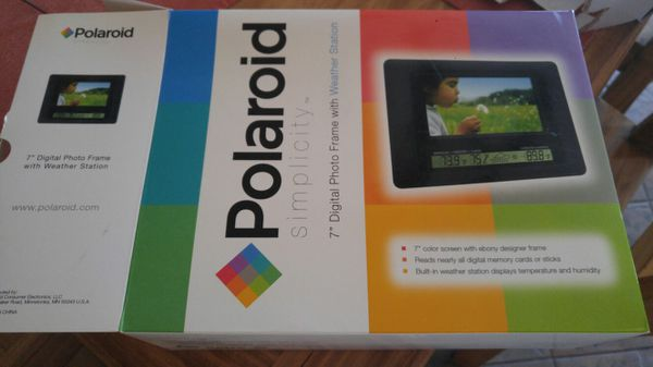 Polaroid Digital Photo Frame With Weather Station For Sale In Pueblo