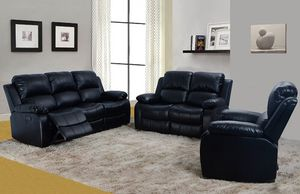 3PC Reclining Living Room Sofa Set, Couch,Loveseat,Sofa,Chair,Bonded Leather,Promotion for Sale in Beverly Hills, CA