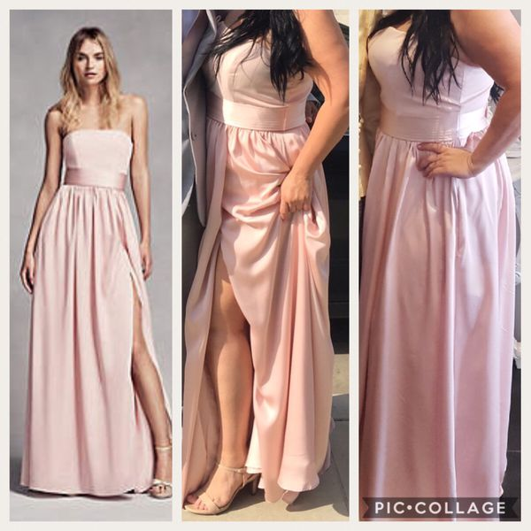 Vera wang formal gown (wore for wedding) BLUSH color .. wore this ...